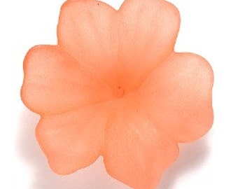 Lucite 30mm Flower - Orange - 1 piece