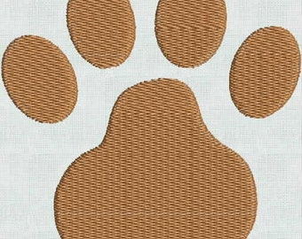 Embroidery Designs Machine Animal Paw 5 Files PES Format Animal Feet Paw  Paws Frame 4 Sizes