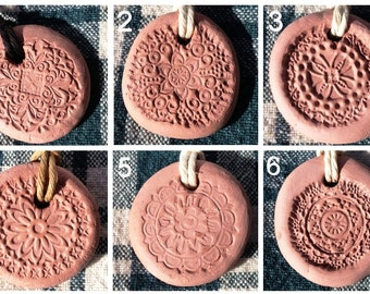 Terracotta Clay Pendant AROMATHERAPY Diffuser for Essential Oils ~ FREE Shipping!