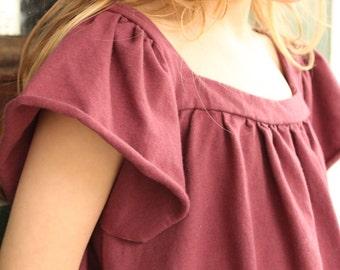 Girls Smock Dress / Organic Cotton
