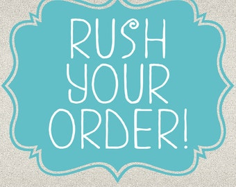 Rush your order! Less than 24-hour turnaround time