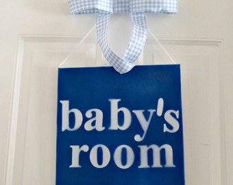 Babys room sign, Baby Boy, Nursery wall décor, painting, art, wall hanging wall décor baby shower gifts Kids room décor Boy room décor