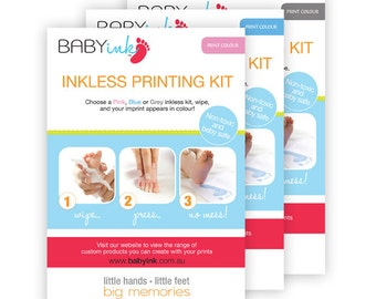 Baby Inkless hand and footprint keepsake kit in colour!