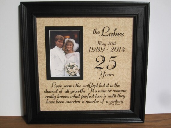 Silver Wedding Anniversary Gifts For Parents: 25th Anniversary Frame Silver Anniversary Anniversary Gift