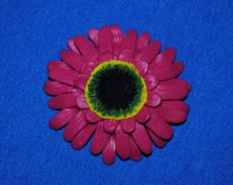 Gerbera flower brooch