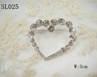 Rhinestone Sweet heart Applique, Diamante Sweet heart Applique, Rhinestone heart shape applique, Sweetheart Motif for garters, sashes