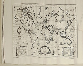 World map fabric world map fabric ebay gumiabroncs Image collections