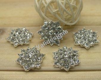 U Pick! 10pcs 17mm Rhinestone Button Handmade Metal Bead Rhinestone Jewelry Accessories YTB48