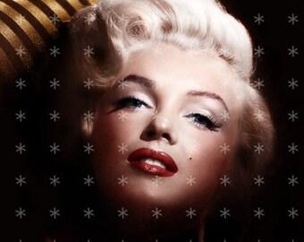 Marilyn Monroe  Hollywood Movie Star Fabric Block MM330- FREE SHIPPING