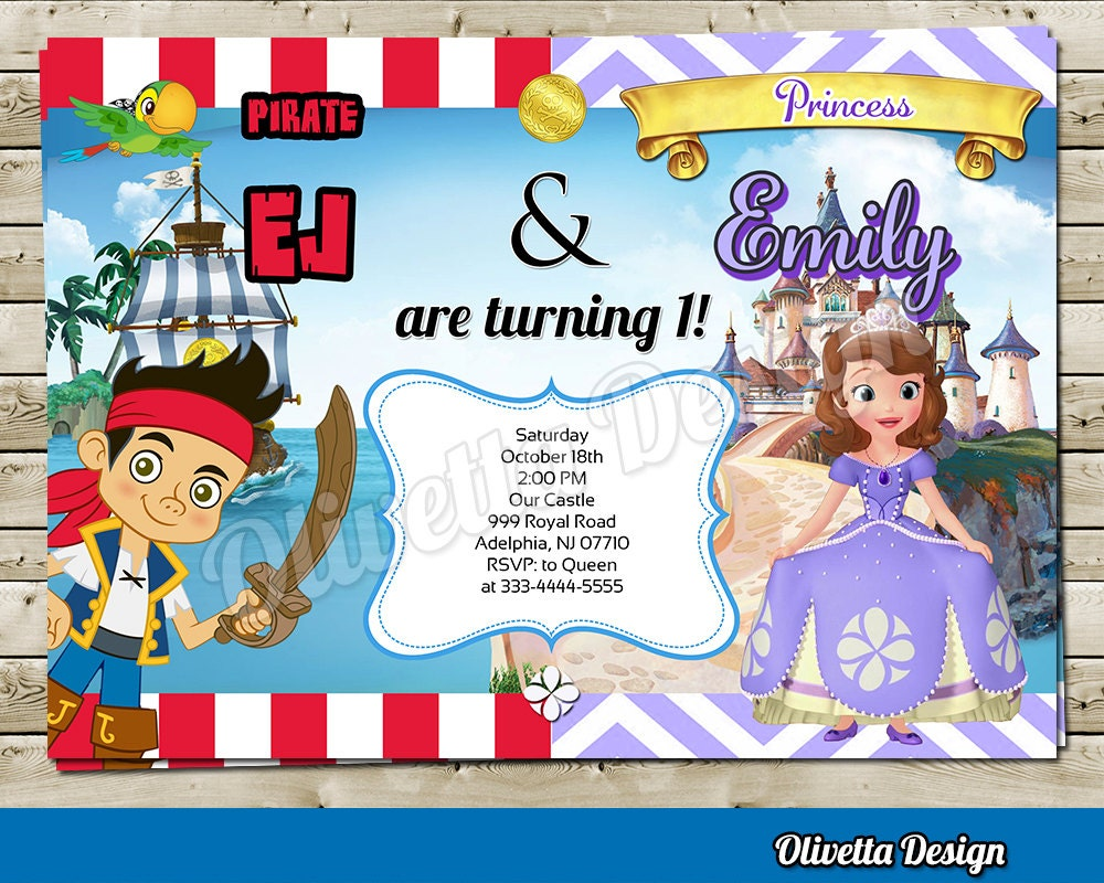 Sofia the first Princess Sofia with Jake Pirate Joint