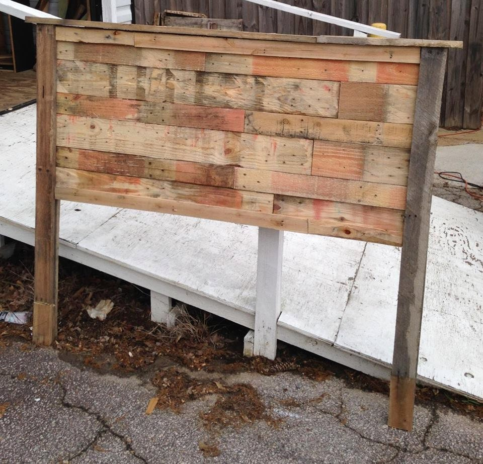 Pallet headboards california king queen full twin for How to make a king size headboard out of pallets