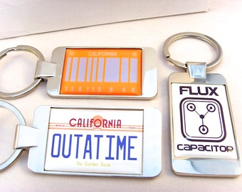 Back to the Future Car Number Plate Key Fob, Flux Capacitor, California 2015 Key Fob Keyfob