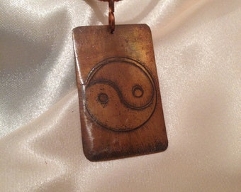 copper pendant yin yan