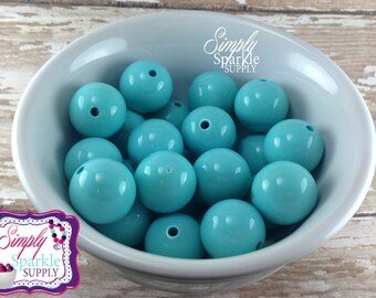 Turquoise 20mm chunky bubblegum bead 50 or 100 pc DIY Wholesale lot