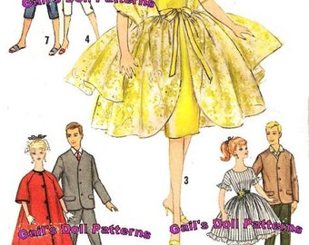 1960's Barbie and Ken Wardrobe Pattern