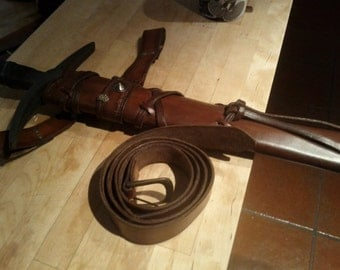 Sheath leather long sword AND her belt