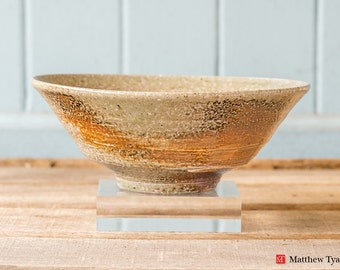 Stoneware Footed Bowl: Soda Fired at the Leach Pottery