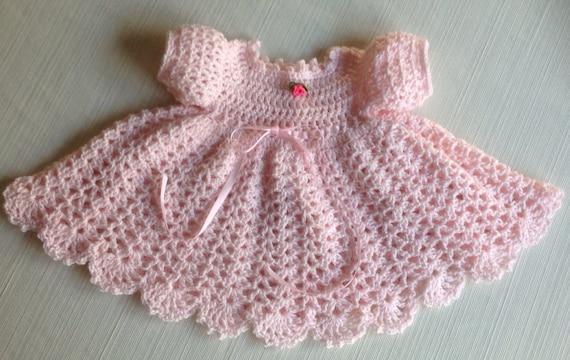 Newborn Crochet Baby Dress Mary Pattern Updated Long Sleeves