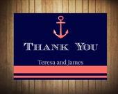 DIY Printable Nautical Theme Wedding Thank You