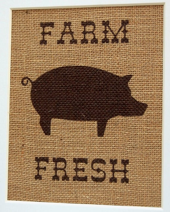 Farm Fresh Pig Kitchen Decor Rustic Kitchen By BusyBeeBurlap