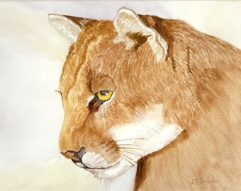 Mountain Lion......Original Watercolor Painting