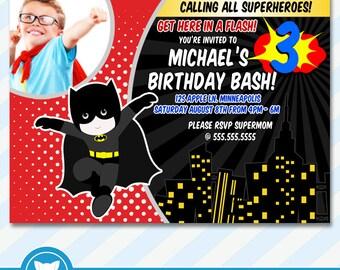 Superhero Invitation, Superhero Birthday, Superhero Party, Superman Birthday, Spiderman Birthday, Batman Birthday, Superhero Printable