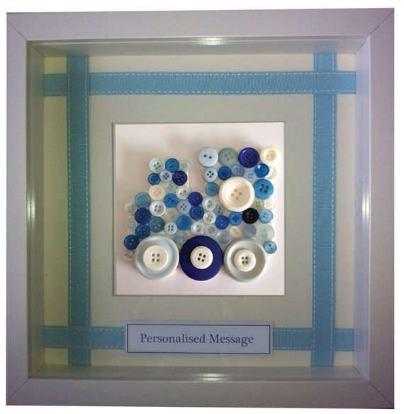 Button Train in Box Frame