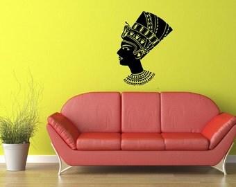 Egyptian Woman Vinyl Wall Decal  Wall Art Sticker Room Decor