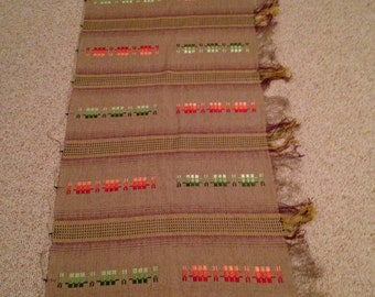 Vintage Handwoven Curtain, Wall Hanging or Fabric