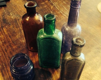 Little Glass Bottles Set