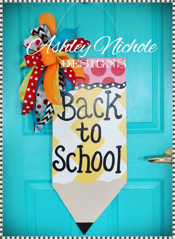 Ships now pencil door hanger back to school decor for Back to school decoration