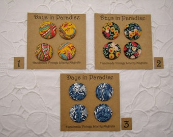 Handmade Liberty Fabric Magnets Collection A
