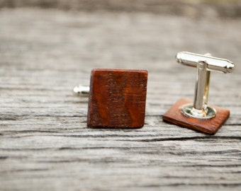 Lacewood Cufflinks, hardwood cufflinks, For Him, Husband, Men's cufflinks