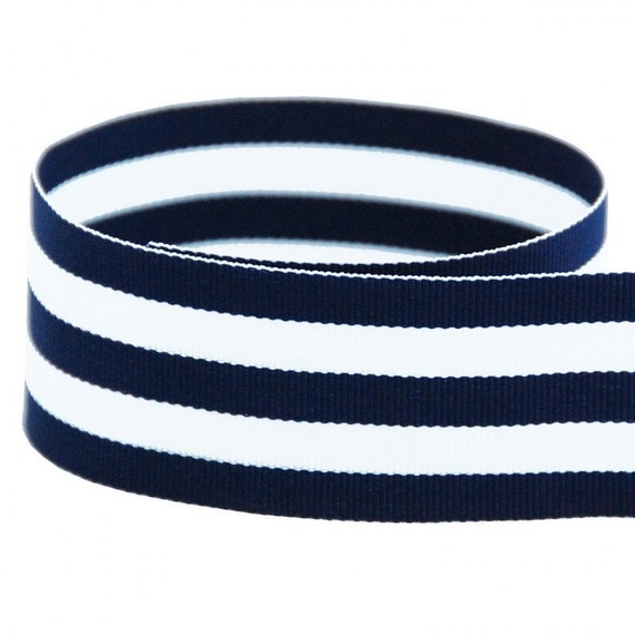 Navy striped ribbon
