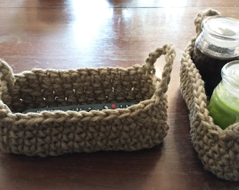 Oval Crochet Jute Basket