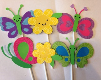 12 Paisley Butterfly Cupcake Toppers