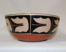 Southwest Pottery : Native American Santo Domingo Pottery Bowl, by AMTL ( Anna Marie Lovato) #140