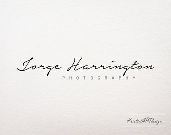 Modern Sophisticated Photography Logo - Customized for any business logo - Premade Photography Logo, Handwritten font logo- Watermark112