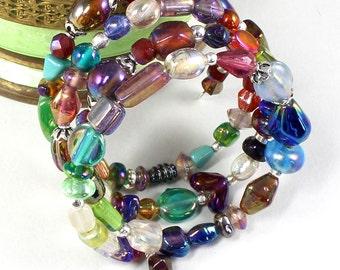 Memory Wire Bracelet | Multi Wrap Bracelet | Multicolor Bracelet | Boho Jewerly | Gypsy Jewelry | Fashion Jewelry | Gift For Her | Portland