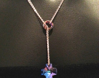 Swarovski Cross Lariat Necklace