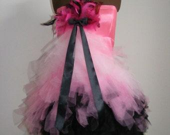 Flamingo Strapless Tulle Dress