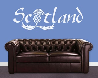 Scotland... Wall art quote sticker
