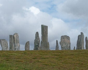 Standing Stones #1- color digital photograph of the Callanish Standing Stones on the Isle of Lewis in the Outer Hebrides off Scotland.