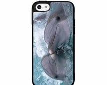 Kissing Dolphins - iPhone 4 4s 5 5s Galaxy s3 s4 s5 Note 2 3 Protective Phone Case Back Cover