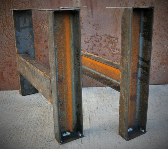 steel table legs set of 2
