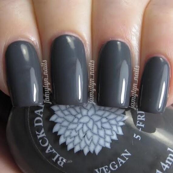 Dark Gray Creme Nail Polish By Black Dahlia Lacquer Dove