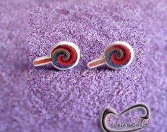 Fun Emoji Rainbow Lollipop Earrings