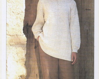 Knitting Patterns Ladies Jumpers Double Knit : Oversized Sweaters Knitting Patterns