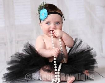 Black Baby Tutu - Infant Tutu and Headband - Tulle Baby Tutu - Tutu For Babies