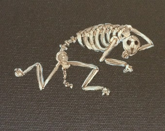 Small Skeleton Dog Painting